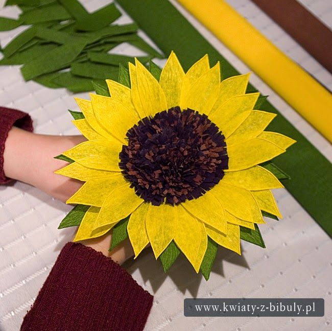 Sunflower Bouquet Of Flowers From Crepe Paper Sunflower Bouquet