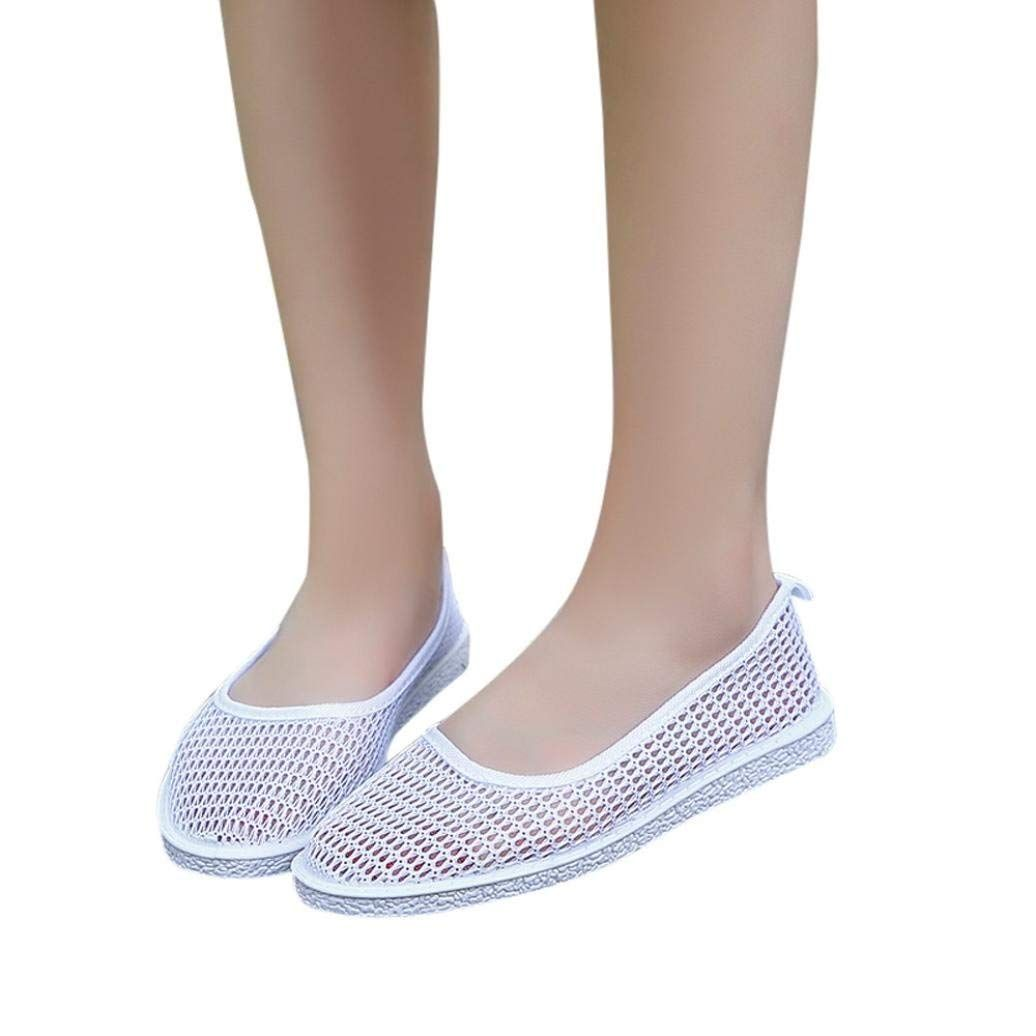 212ab8ae2ac AIMTOPPY HOT Sale Women Casual Breathable Hollow Mesh Flat Peas Shoes  Single shoes (US