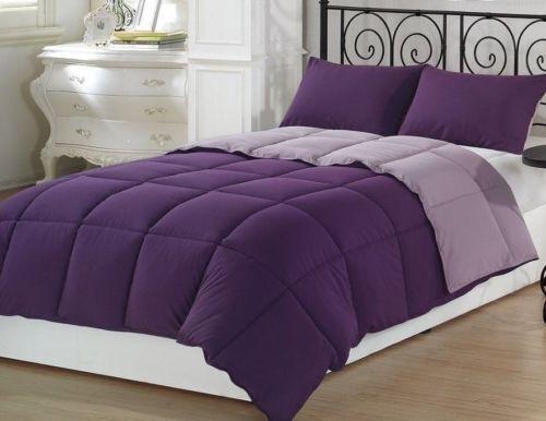 Chezmoi Collection 3-Piece Ultra Soft Down Alternative Comforter Set Lavender