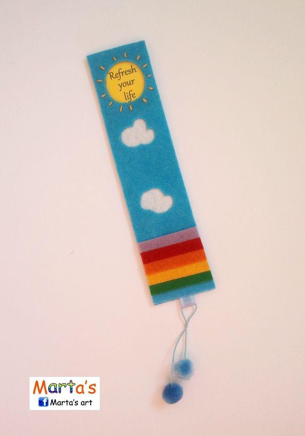 felt bookmark idea...change it to say: (God Keeps His Promises) or (De Colores)