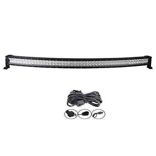 YITAMOTOR 52 Inch Curved Red Led Light Bar Offroad Lights