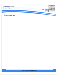 letterhead template at word documentscom