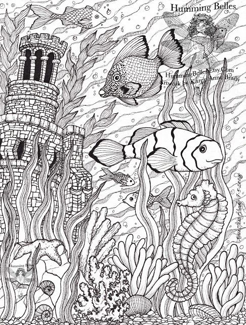 New Undersea Illustrations And Coloring Pages Animal Coloring