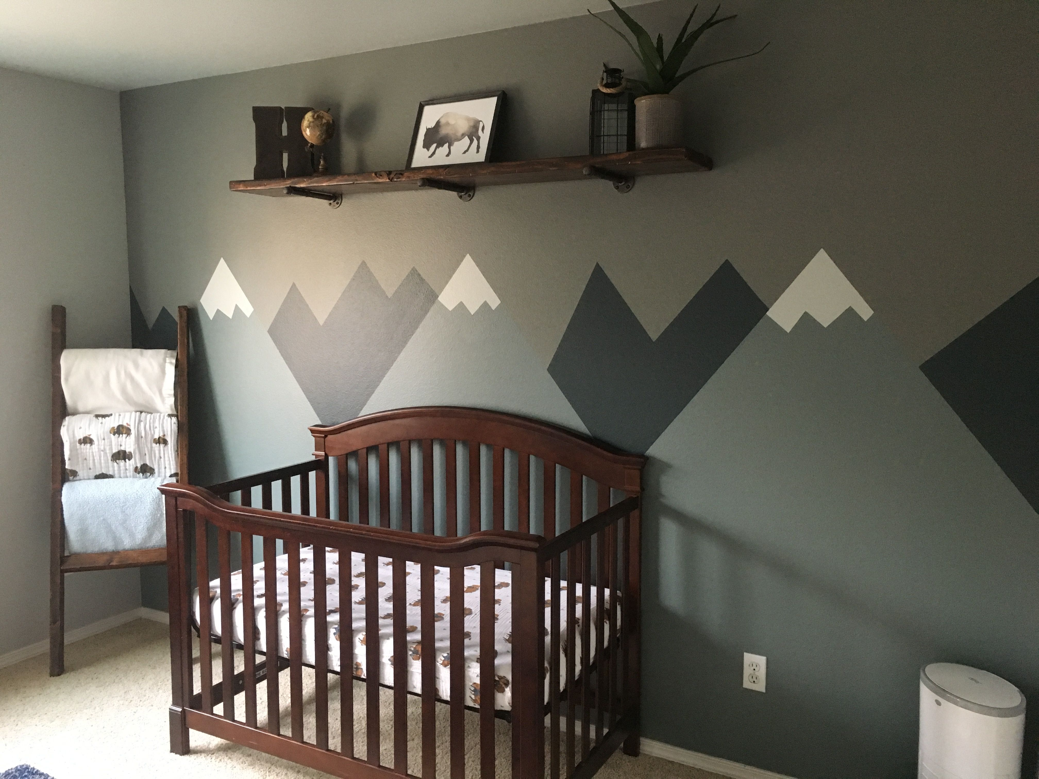 Baby Boy Outdoor Mountain Nursery Baby Room Mountains Buffalo Baby Room Colors Baby Boy Room Decor Boys Bedroom Ideas Outdoors