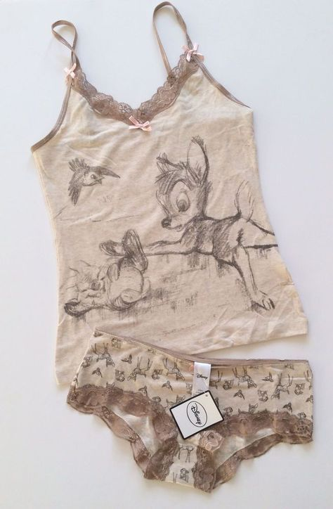7c589c98cbb81 Ladies DISNEY BAMBI   THUMPER Vest   Brief Underwear or Sleep Set ...