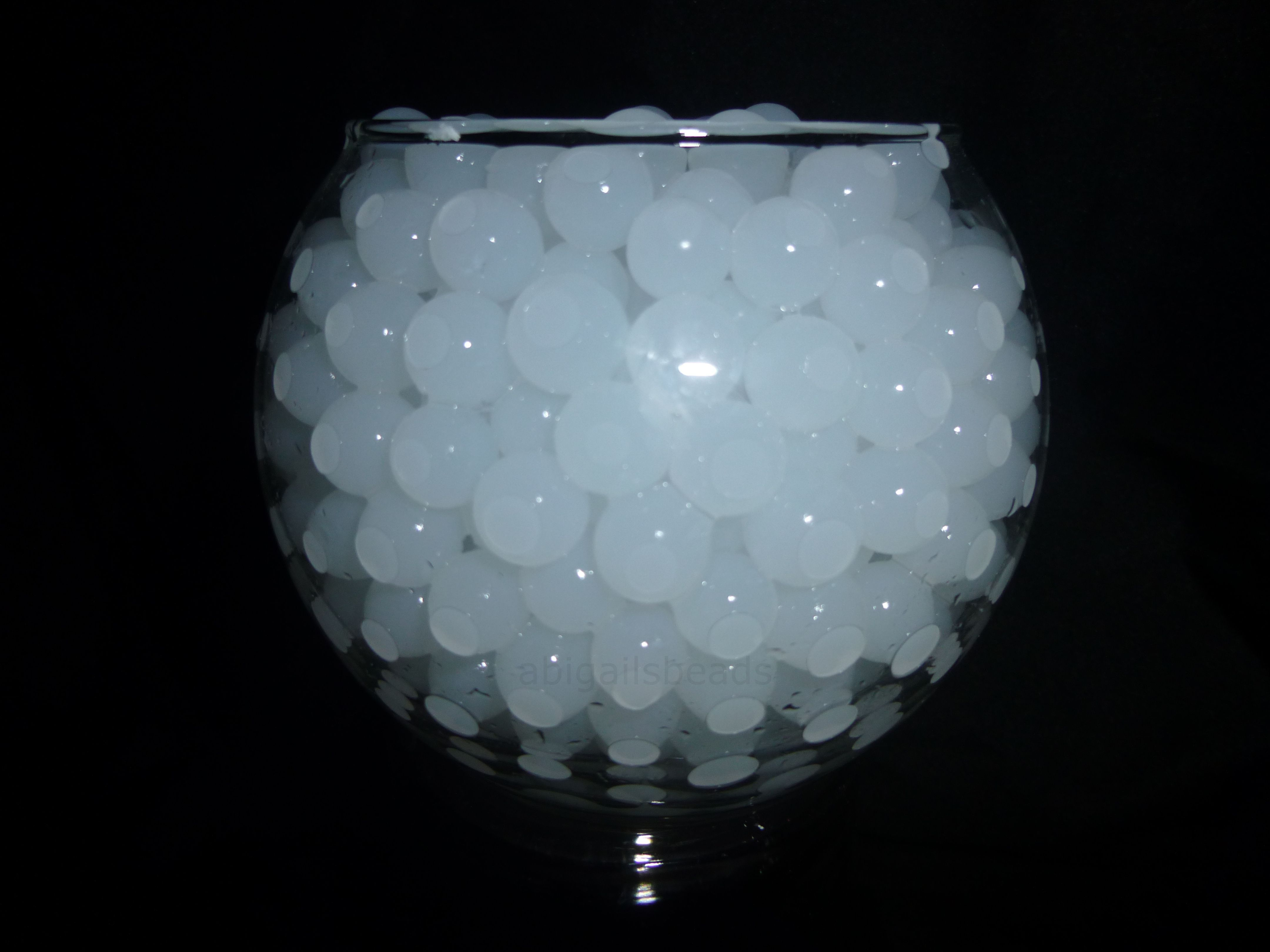 White Water Beads Hydrated Absorbing Gel Magic Marble
