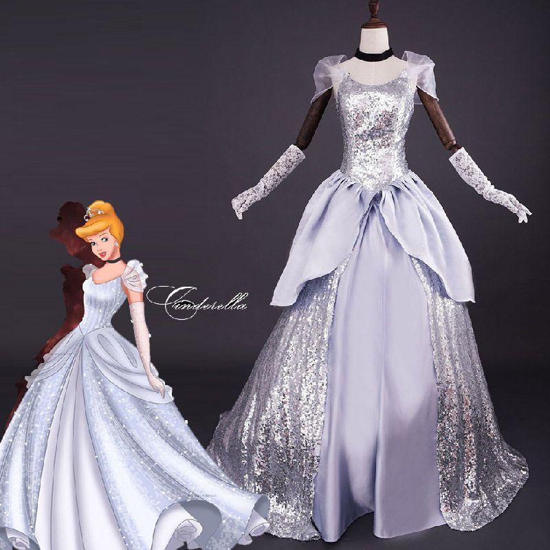 Deluxe cinderella dress adult halloween costume Ladies cosplay Prom ...