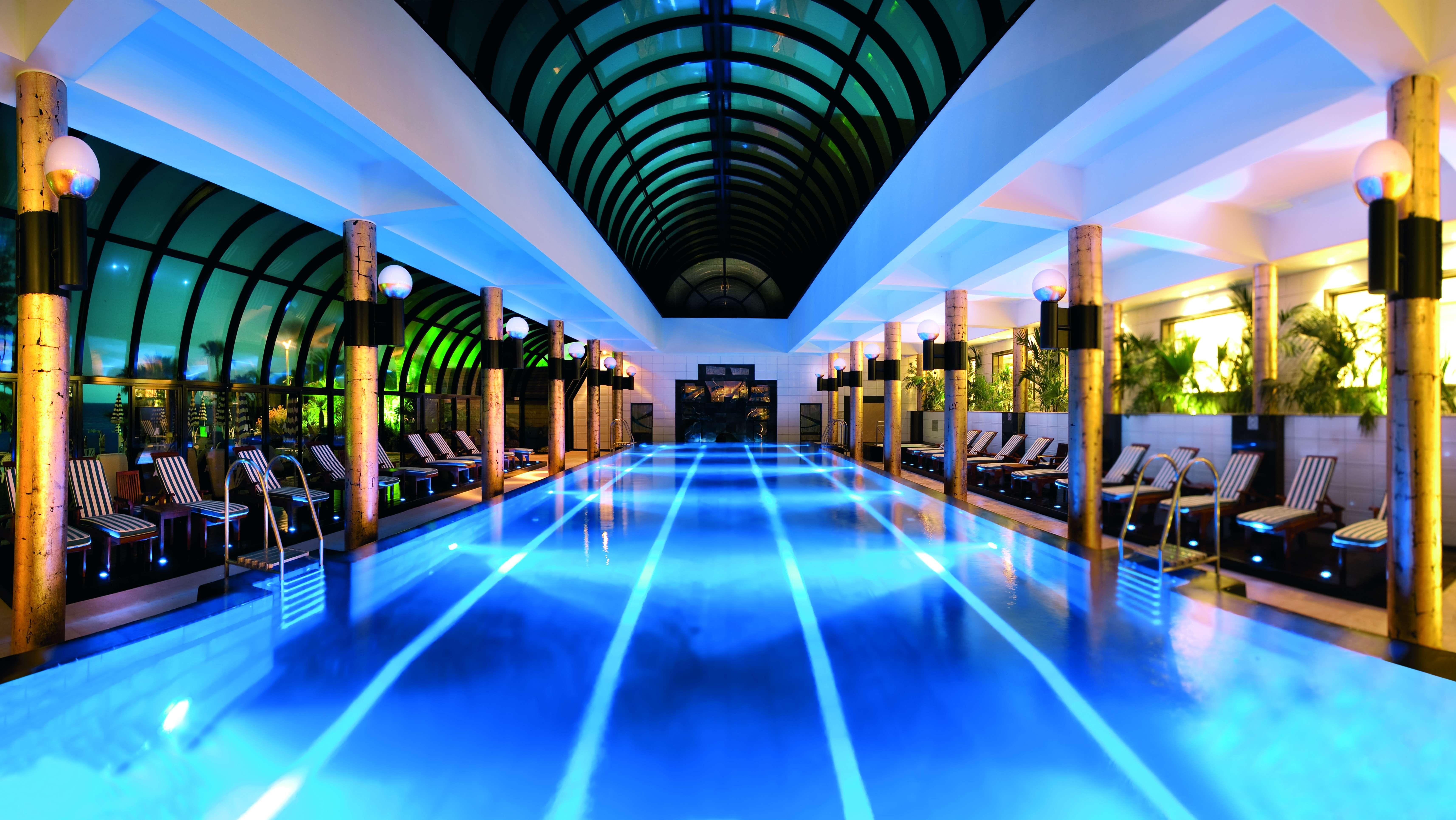 Indoor Pool At Amathus Beach Hotel, Limassol, Cyprus