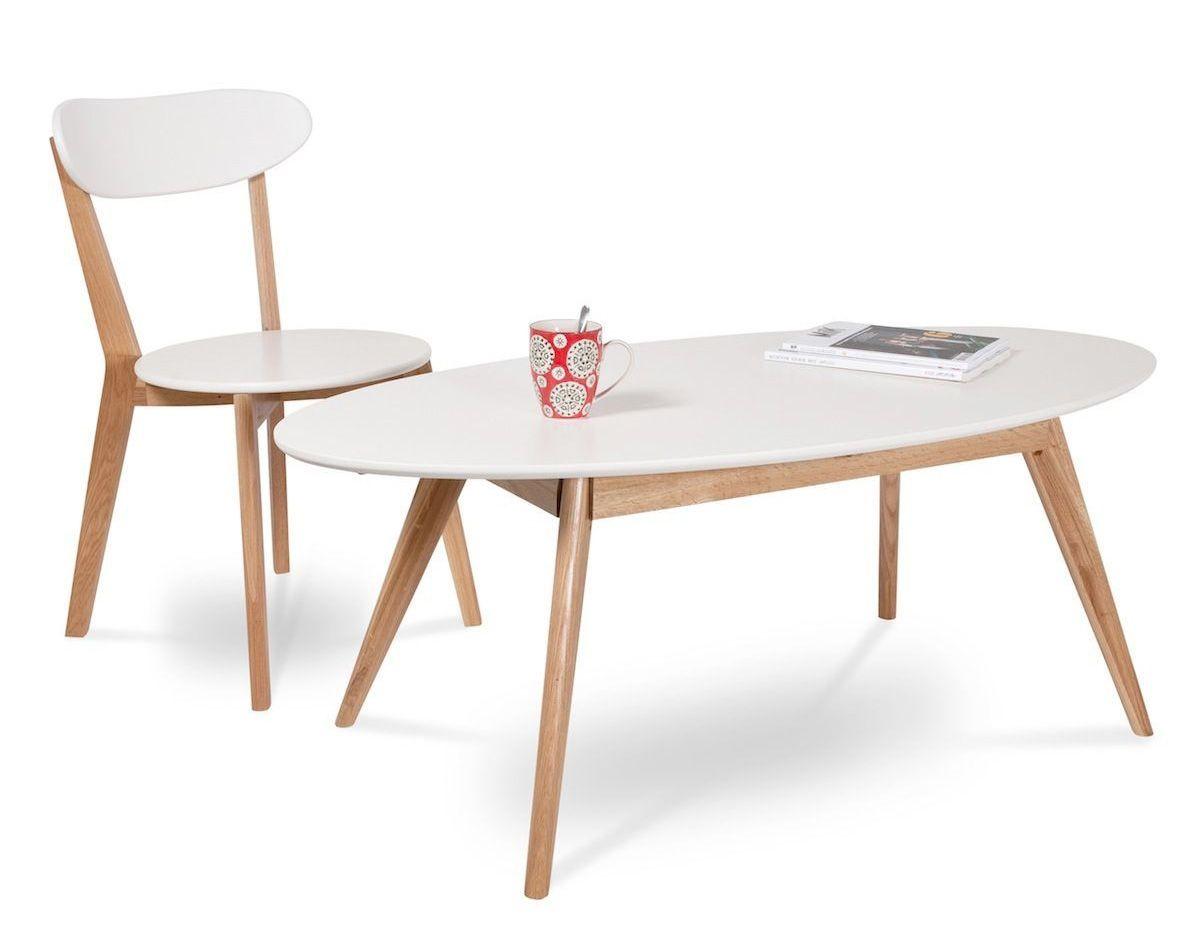 table basse design scandinave bois brut et blanc pinterest bois brut table basse et table. Black Bedroom Furniture Sets. Home Design Ideas