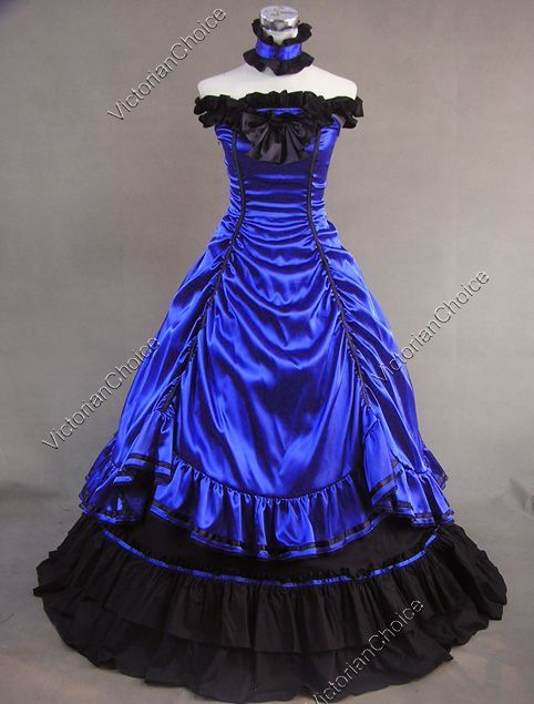 Southern Belle Civil War Ball Gown Prom Period Dress Reenactment Stage Costume #dressesfromthesouthernbelleera
