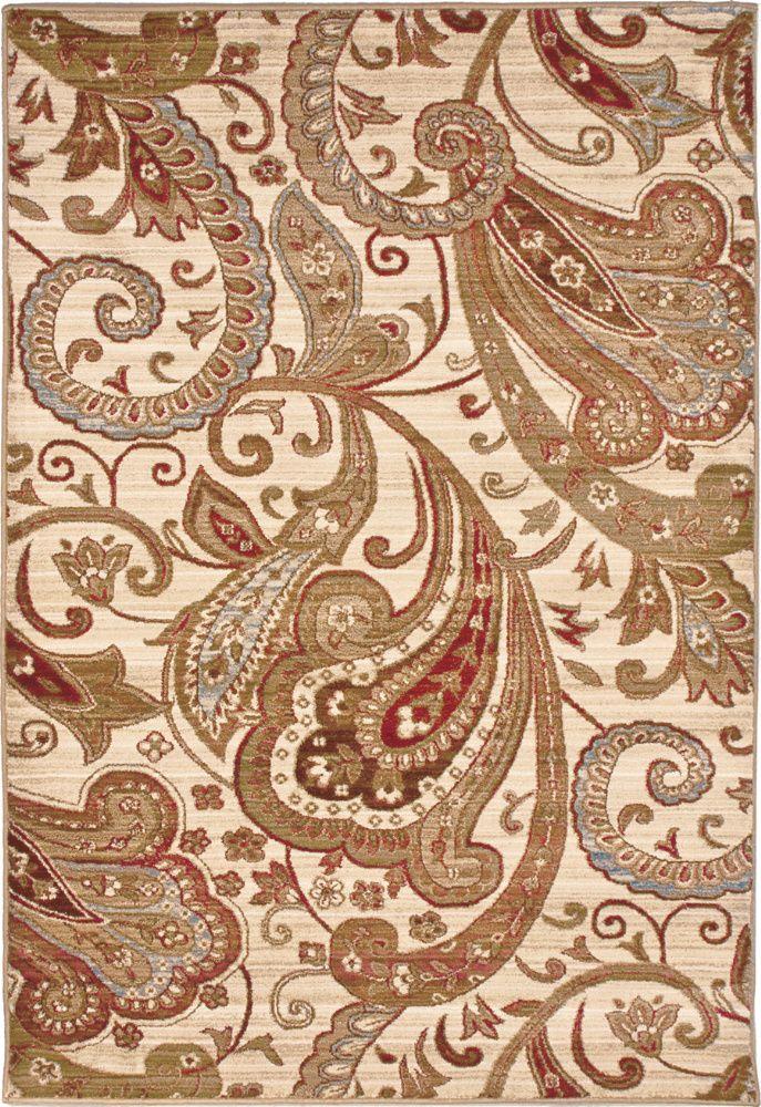 RugStudio presents Orian Anthology Windsor 1424 White Beige Machine Woven, Good Quality Area Rug