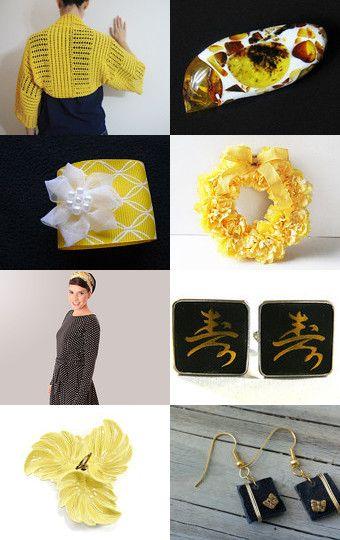 Black and Yellow by Marlena Rakoczy on Etsy--Pinned with TreasuryPin.com