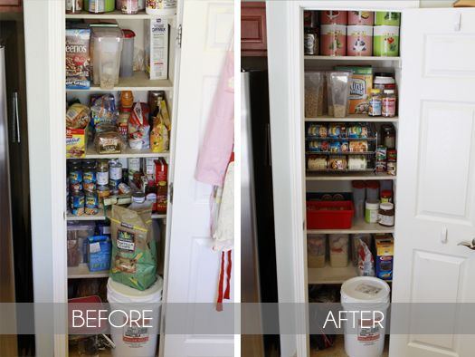 Pantry Makeover Before And After Organize Pinterest