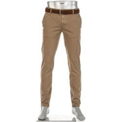 Alberto Chino pantalones hombres, algodón, beige Alberto