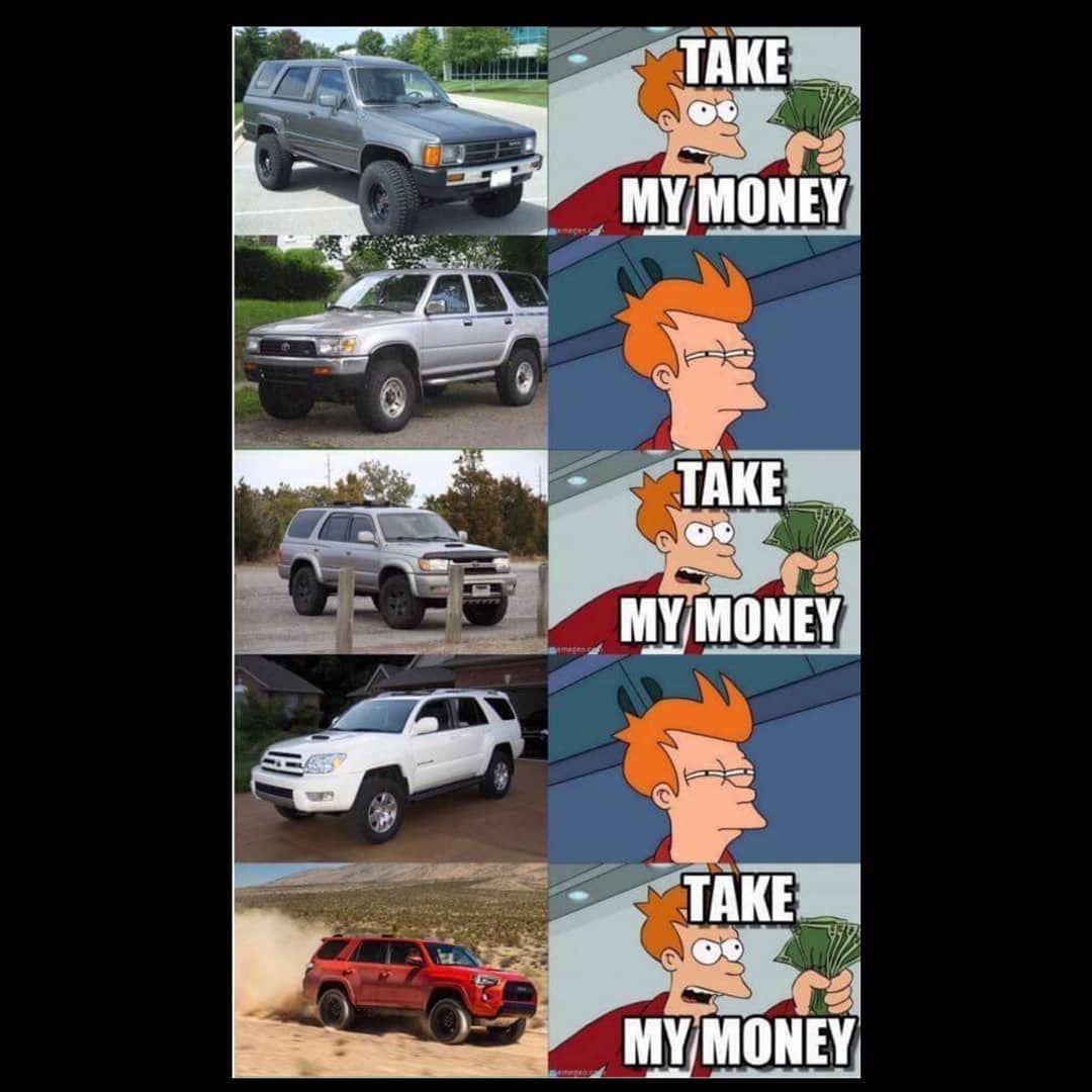 Here's some 4runner memes. Swipe