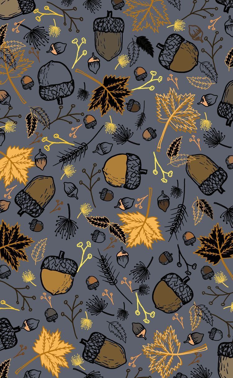 5 Fall Pattern iPhone Wallpapers Brighter Craft Fall
