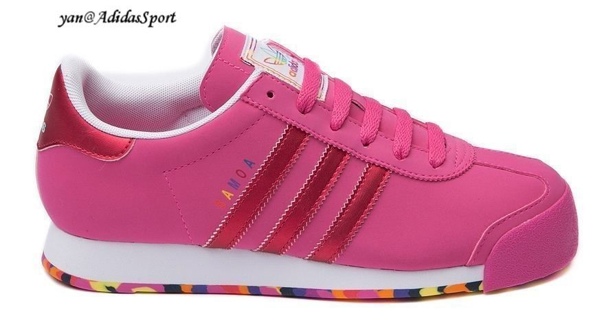 Adidas Originals Women Samoa Retro Shoes Pink / Red / White / Floral Bottom  HOT SALE