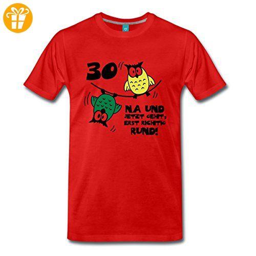Eulen 30 Geburtstag Manner Premium T Shirt Von Spreadshirt 5xl