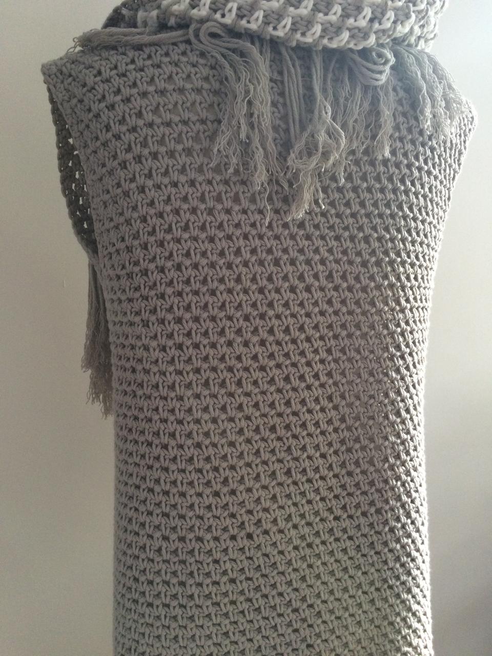 Een Vest In De Weefsteek Haak Patronencrochet Patterns