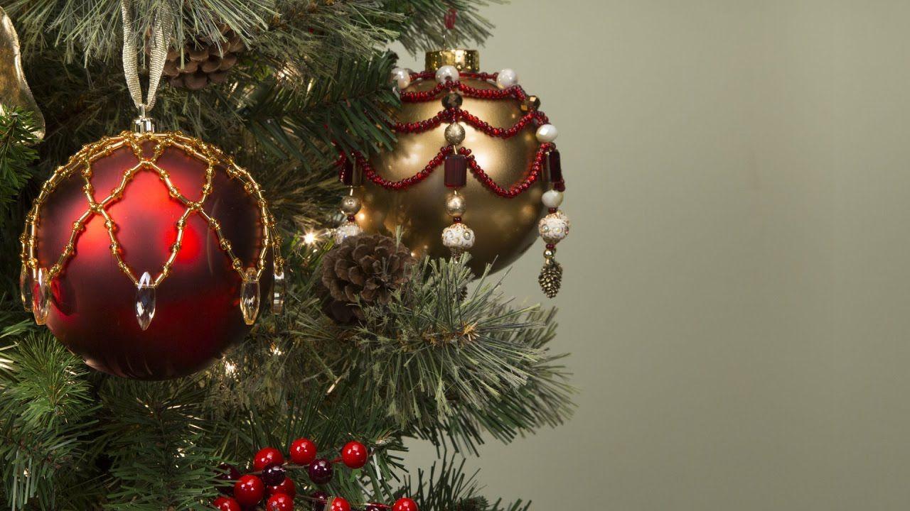 Beaded Christmas Ornament Youtube Beaded Christmas Ornaments Christmas Ornaments Hobby Lobby Christmas
