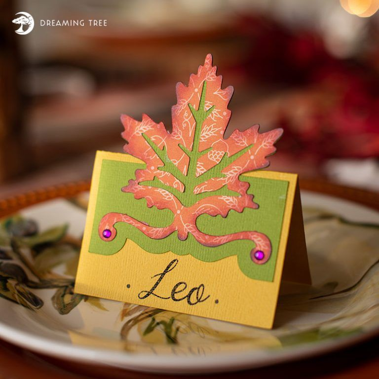 Autumn Leaf Place Card (Free SVG) | silhouette cameo 3 | Svg