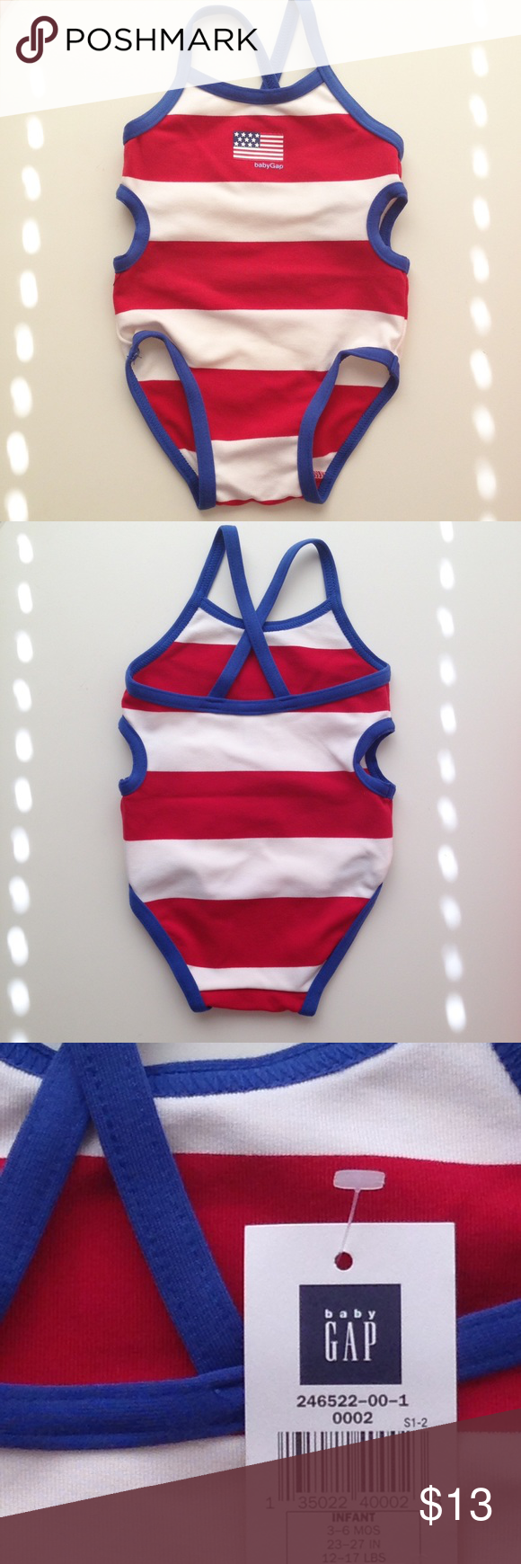 Baby GAP Infant Swimsuit New with tags, Infant swimsuit. Size 3-6 mos. No Trades. Baby Gap Swim One Piece