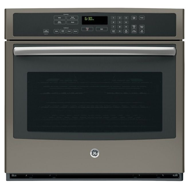 Ge Convection Wall Oven Self Clean 30 5 Cu Ft Slate