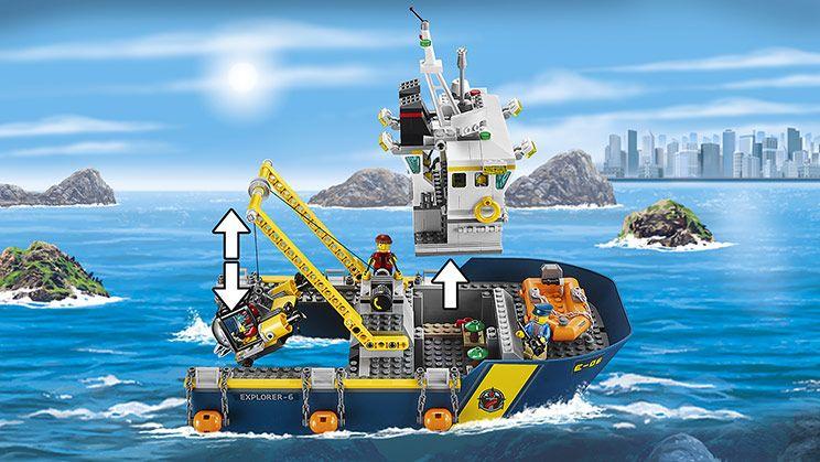 60095 Buque de Exploración Submarina - Productos - City LEGO.com