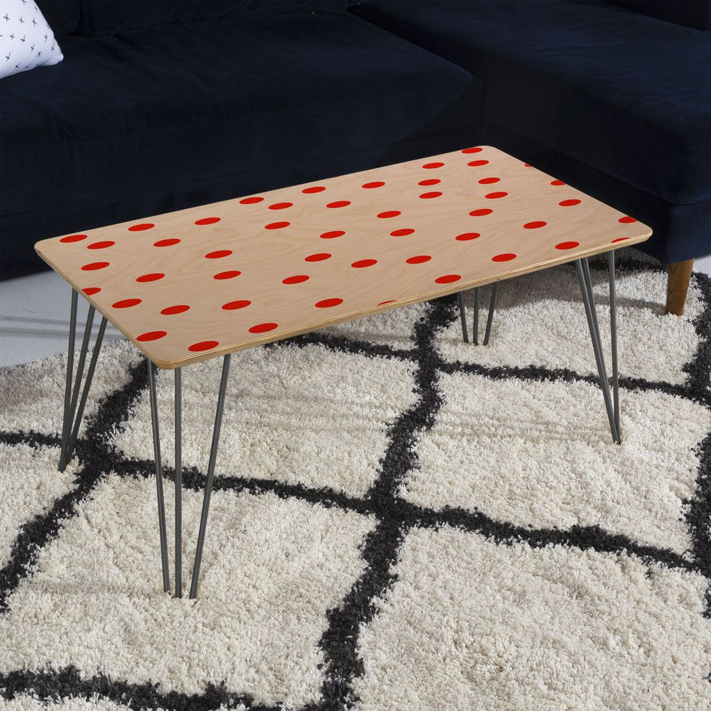Couchtisch Red Dot Garima Dhawan Vintage Dots Red Coffee Table The Deny Furniture
