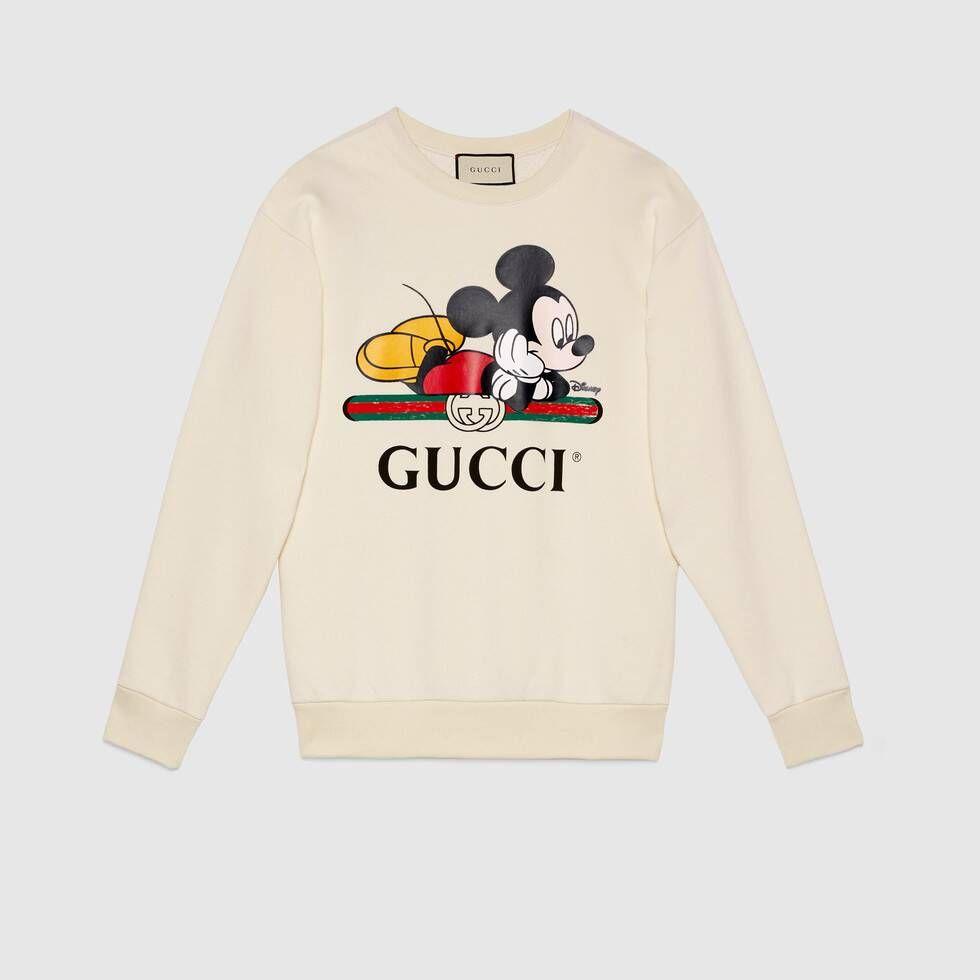 Shop The Disney X Gucci Oversize Sweatshirt In White At Gucci Com Enjoy Free Shipping And Complimentary Gift Sweatshirts Gucci Sweatshirt Printed Sweatshirts [ 980 x 980 Pixel ]