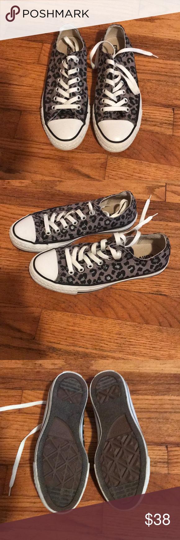 leopard print converse size 7