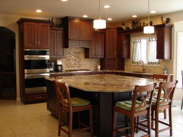 Transitional Kitchen Cherry Cabinets  209837 Cherry Kitchen Impressive Transitional Kitchen Designs Review