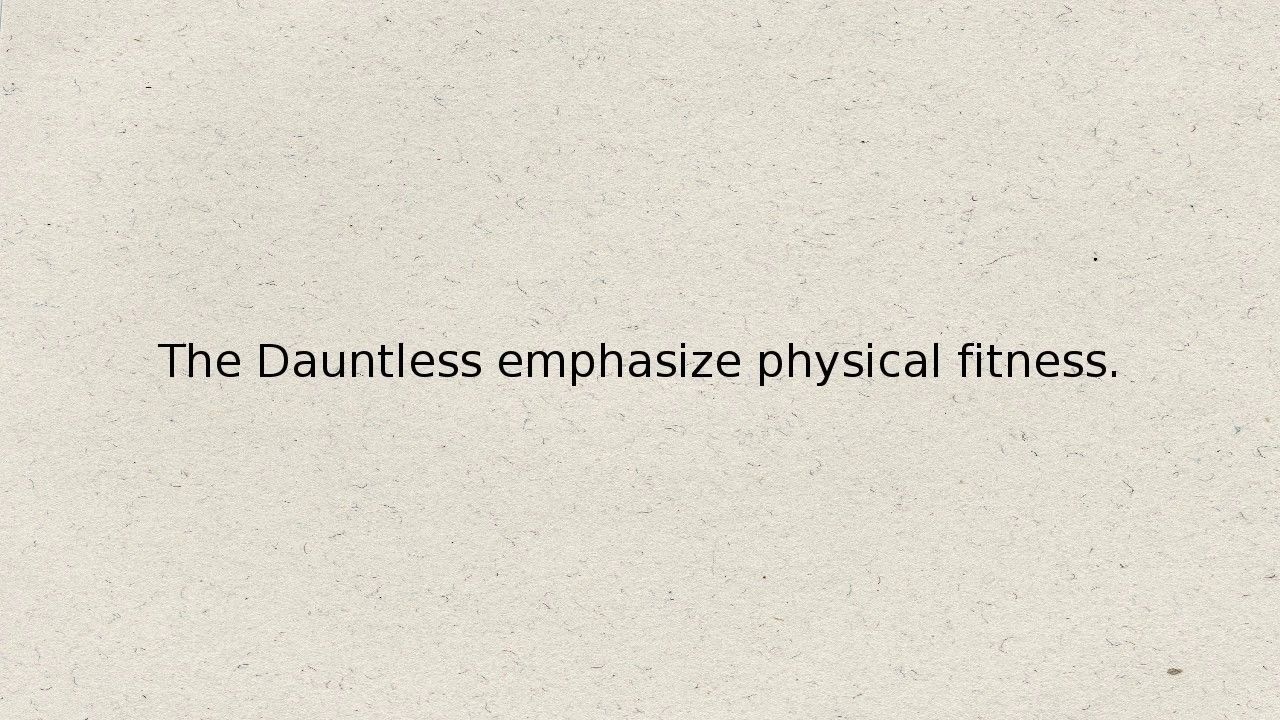 How To Be A True Dauntless