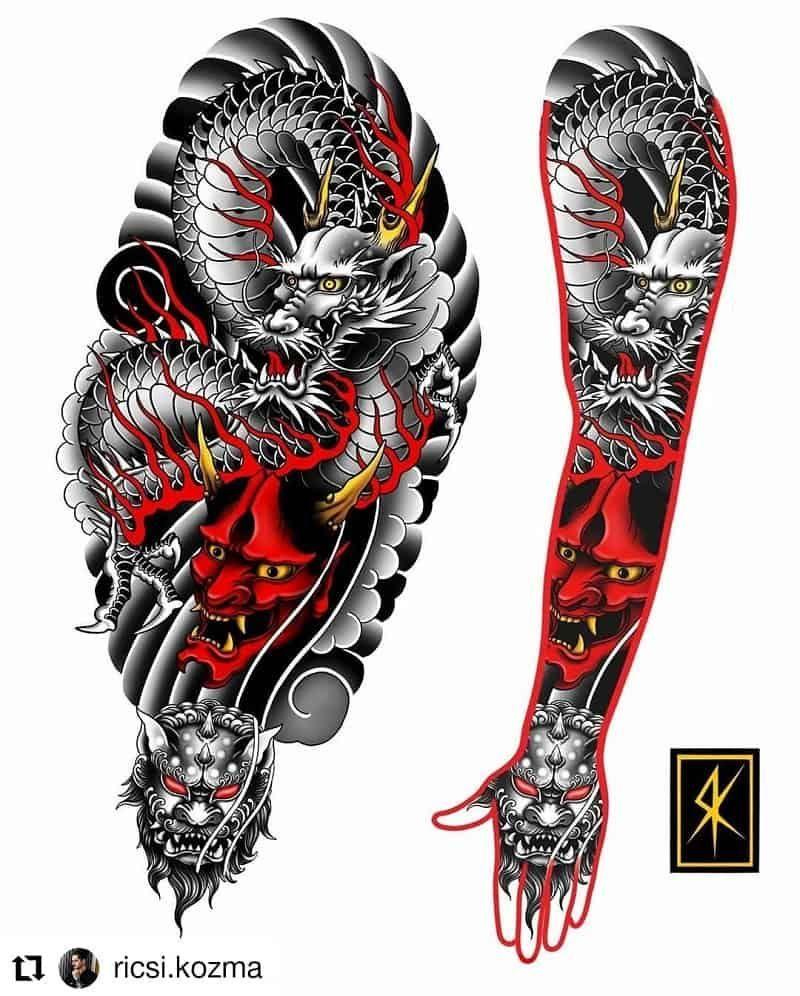 14 Best Dragon Tattoo Designs: Mesopotamian, East Asia Or Europe?