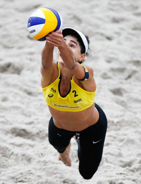 31cb2fde8a Carolina Salgado of Brazil in action during the main draw match  againstJapan at Parque Olimpico during day two of the FIVB Beach Volleyball  World Tour Rio, ...