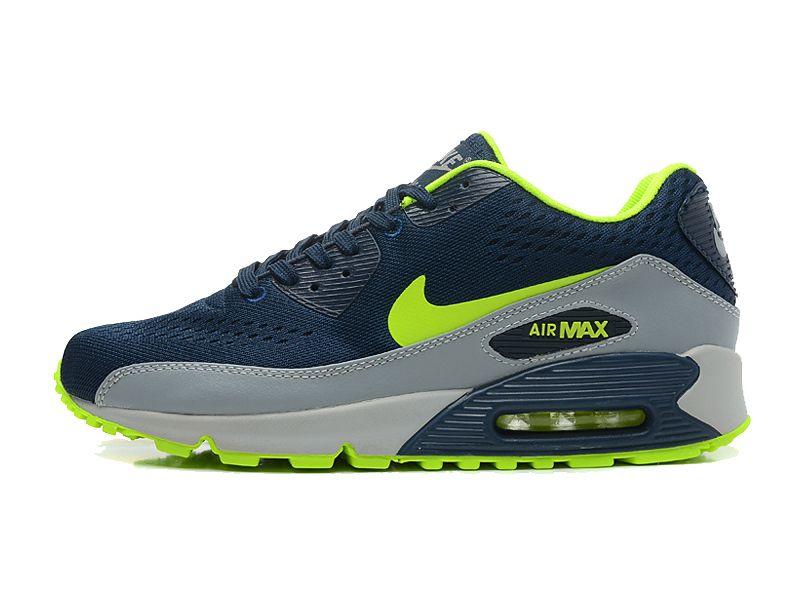 reputable site 8a796 6c4d9 Nike Air Max 90 Premium EM Chaussures Pour Homme Bleu Gris