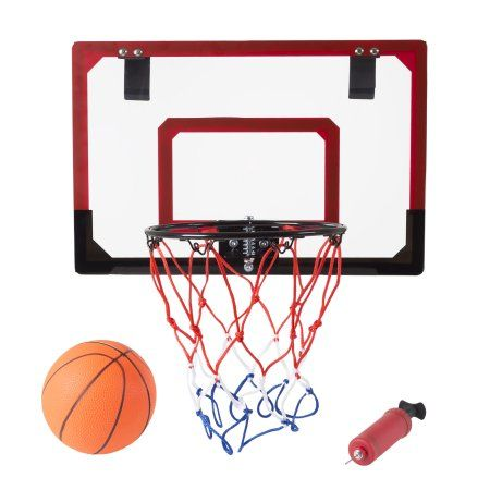 Mini Basketball Hoop With Ball And Breakaway Spring Rim For Over The Door Play By Hey Play Walmart Com Mini Basketball Hoop Mini Basketballs Indoor Basketball Hoop