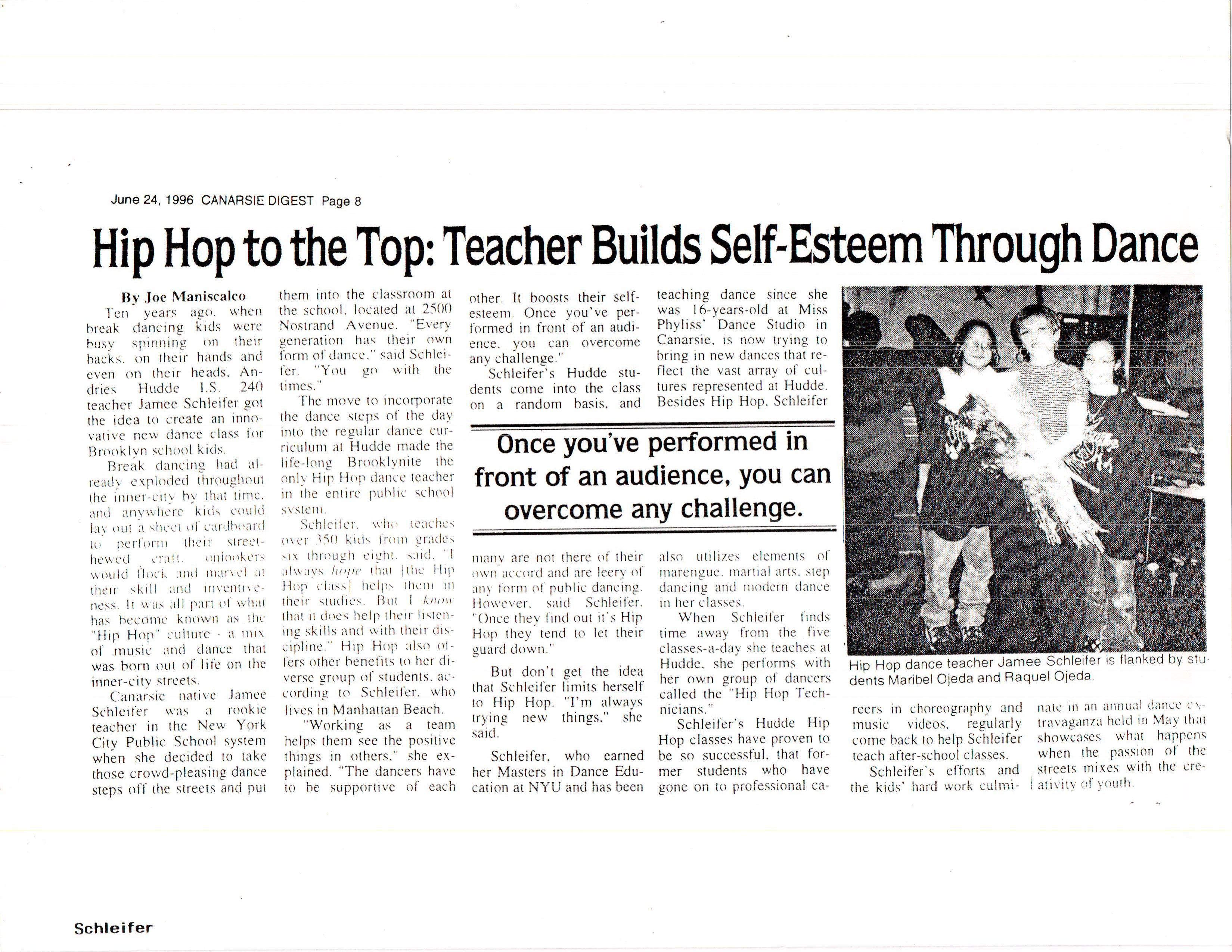 Hip Hop To The Top Teacher Build Self Esteem Through Dance