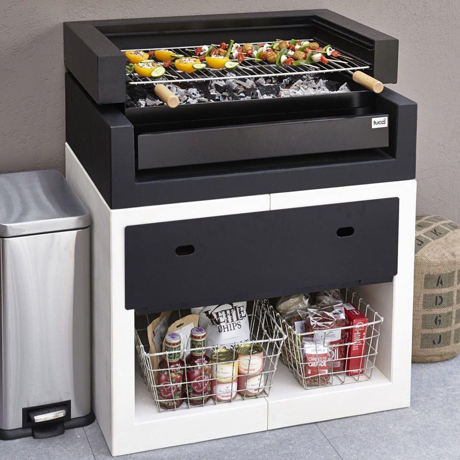Barbecue Leroy Merlin, achat Barbecue en béton Kitaway grill blanc ...