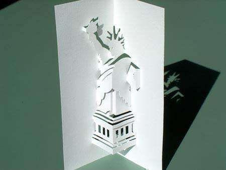 Statue Of Liberty Www Papyromania Nl Pop Up Art Kirigami Paper Crafts