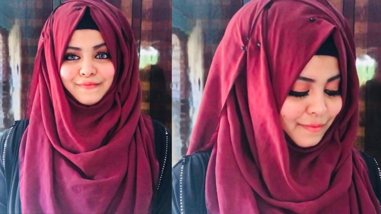Hijab Tutorial  Full covered  Ideal for College & School