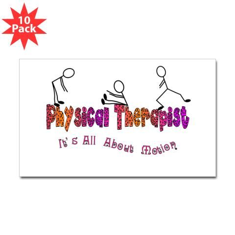 Physical Therapists Ii Sticker Rectangle  Pk  Physical