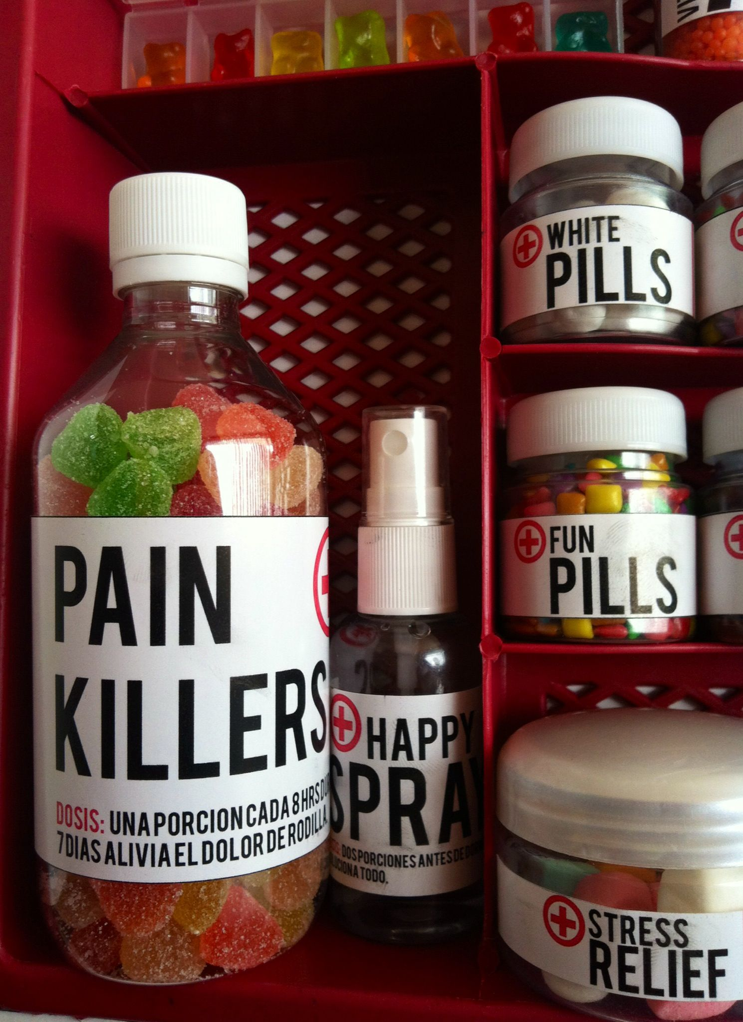 Get well gift, país killers, candy pills, dulces.