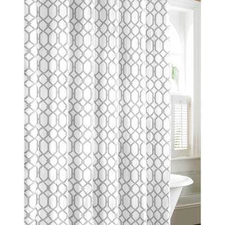 tommy bahama shoretown trellis gray cotton shower curtain overstock shopping great deals on tommy bahama shower curtains