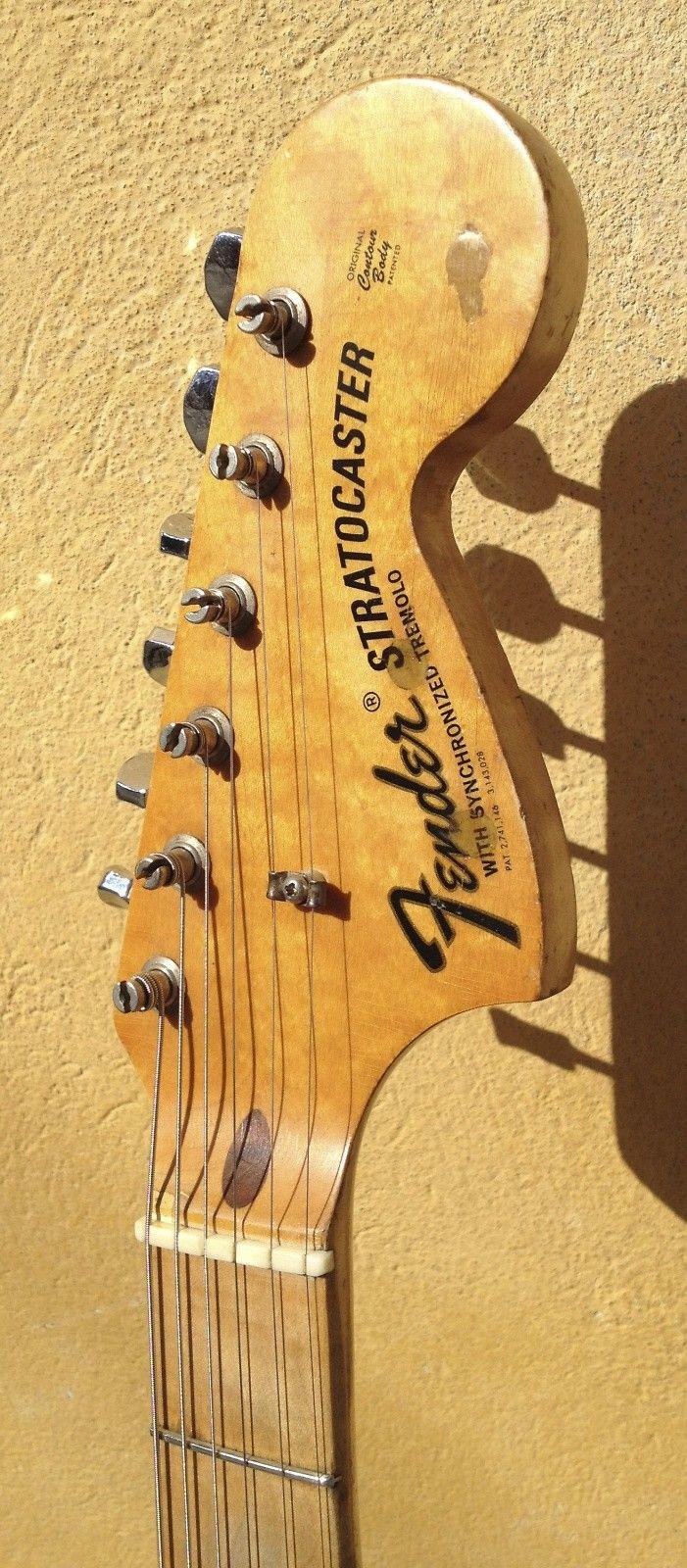 Fender Stratocaster 1971 Black custom color and Maple neck | Reverb