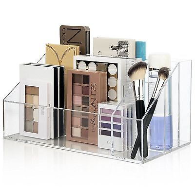 Makeup palette organizer acrylic cosmetic case women brush - Rangement palette maquillage ...