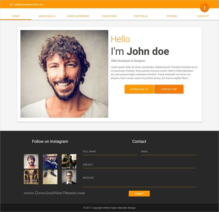 Material is clan and modern design responsive #HTML bootstrap - bootstrap resume template