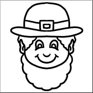 St Patrick S Day Coloring Pages Black And White Cartoon Leprechaun