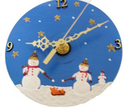 Image detail for -Craft Supplies: Sunshine Discount Crafts: Snowmen CD Clock Project