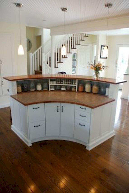 All Around Designed House With Kitchen Storage Curved Kitchen Island Round Kitchen Island Kitchen Design